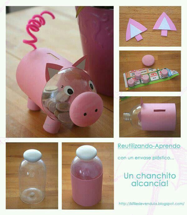 Una Hucha Cerdito Todo Reciclado Pinterest Toddler Crafts