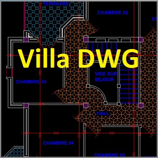 Villa Dwg 3 Plans Autocad Architecturals Cours De Genie Civil