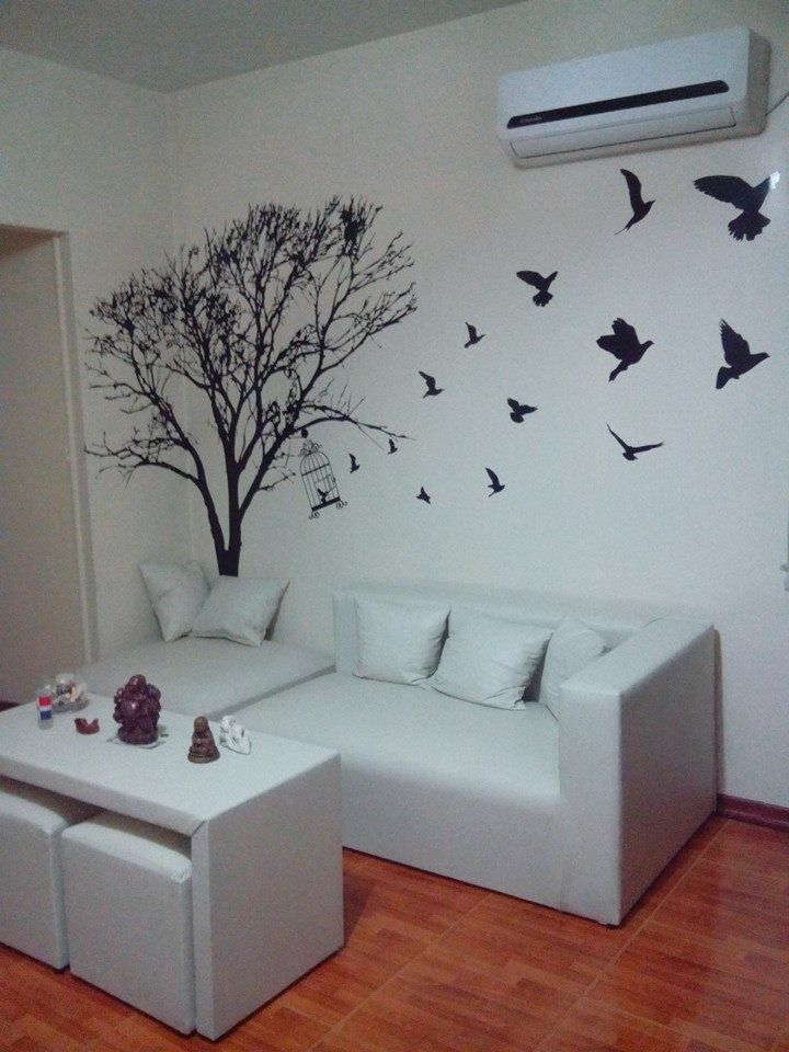 Vinilo Decorativo Arbol Con Pajaros Only Things Pinterest