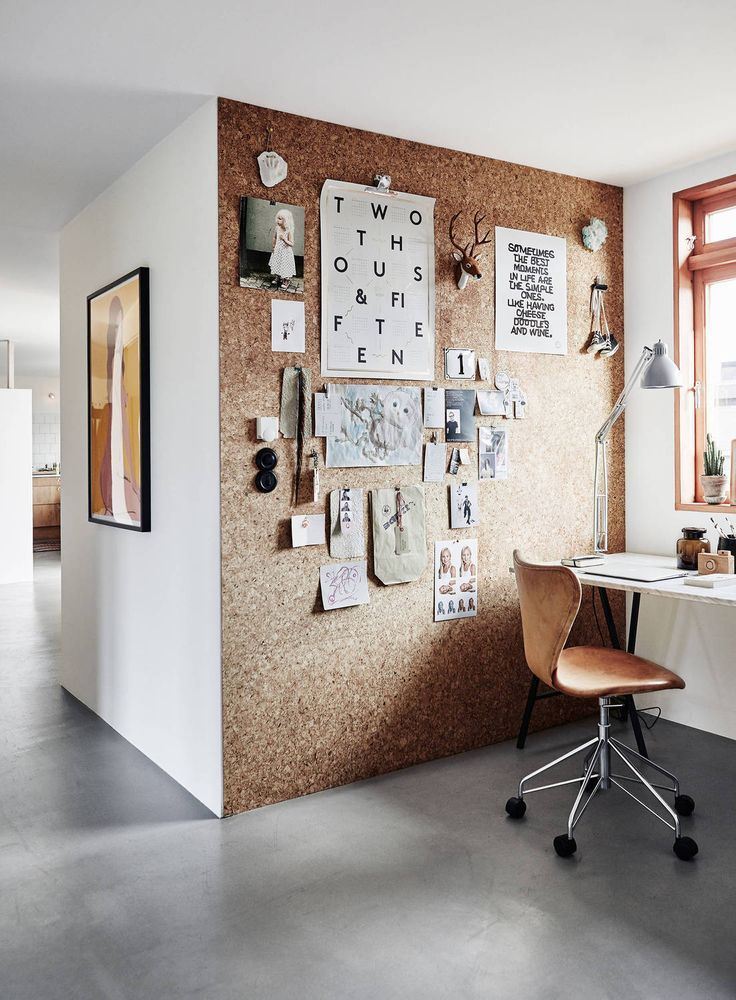Workspace With A Cork Wall COCO LAPINE DESIGNCOCO DESIGN