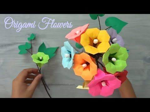 YouTube Origami Pinterest Papel Y Flores De