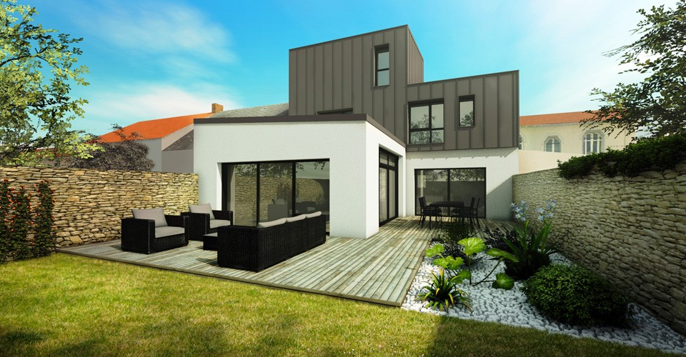 Architecture Contemporaine Maison Individuelle Nantes Construction