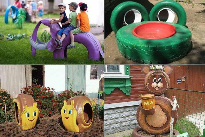 Cool Uses For Old Tires Reciclado Pinterest Neumaticos