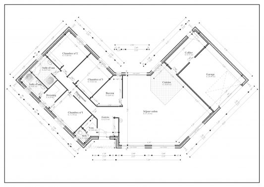 Description For Plan De Maison Avec Etage En L 115m I 0 Scarr