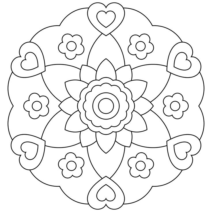 Free Printable Mandalas For Kids Coloring Pinterest Mandala