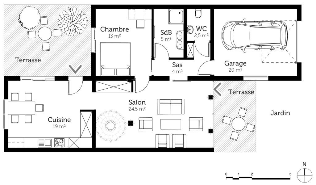 Plan De Maison Gratuit 4 Chambres Pdf Design Duplex Awesome En Ideas