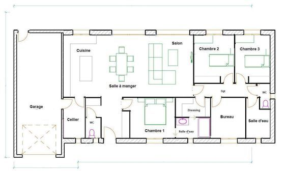 Plan Maison 120m2 Plain Pied Home In 2018 Pinterest House
