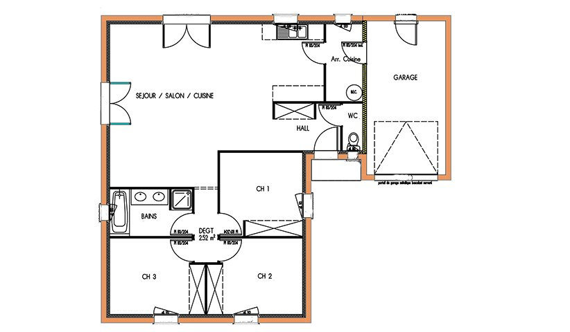 Plan Maison 150m2 Affordable Chambres Inspiration Politify Us