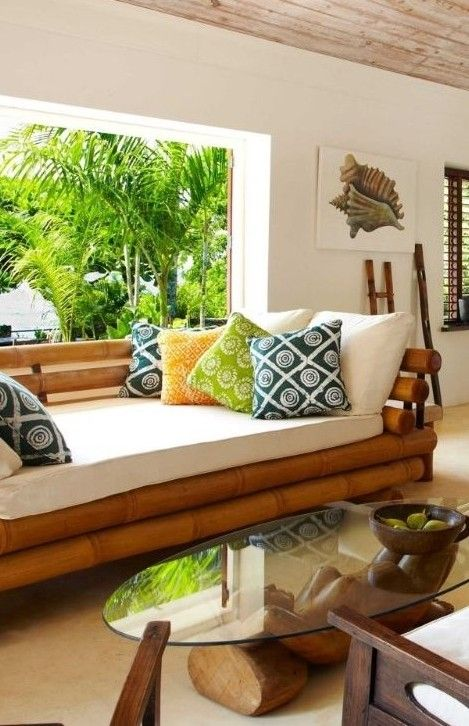 Using Bamboo For Vintage Look Home Pinterest Bamb Cortinas